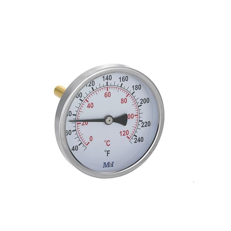 Termometro De Calefaccion Horizontal Hidraulicas Carthago Preciso y de fácil lectura. termometro de calefaccion horizontal hidraulicas carthago